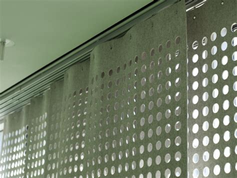 felt curtains wool felt perforated panel set modern curtains by
