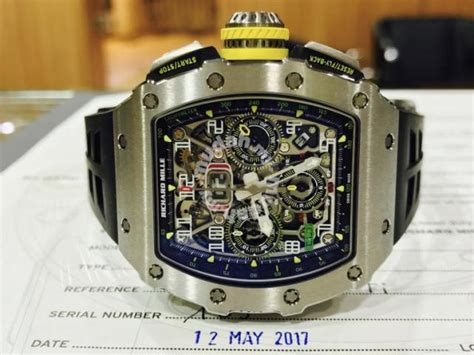 Richard Mille Rm 11 Jam Tangan Branded richard mille rm11 03 ti new 2017 swiss hour