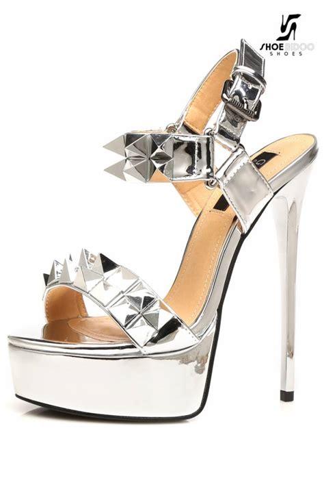 silver giaro quot galana quot studded platform sandals