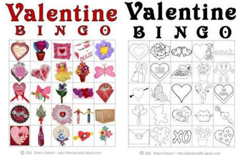 valentines activities 7 best images of printable bingo free