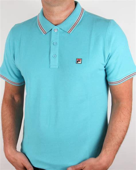 Polo Shirt Fila 3 fila vintage matcho 3 polo shirt blue azure mens match