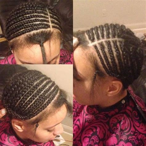 braid pattern for side shave sewin foundation for full sew in deep side part hair