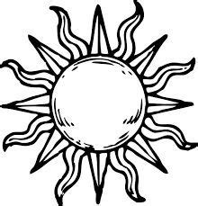 simple sun drawing black and white google search ink