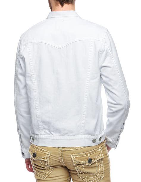 Weekday Single Denim Jacket White true religion jimmy mens white denim jacket in white for