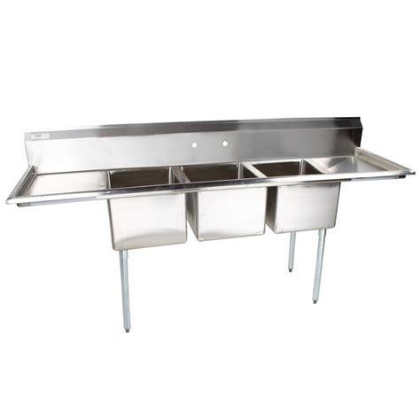 Stainless Steel Sinks Commercial by Regency 91 Quot 16 Stainless Steel Three Compartment