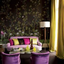 purple home decorations theme design purple and gold color combination before