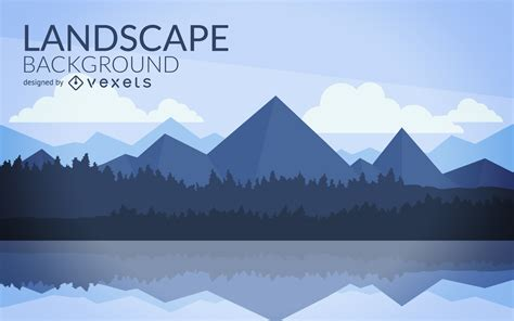 Flat Mountain by Flat Mountain Landscape Design Vector