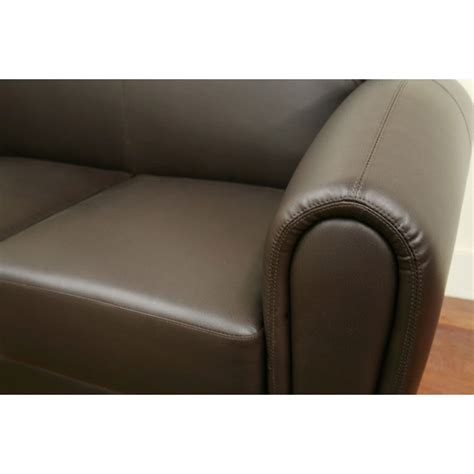 Brown Leather Modern Sofa Sally Brown Leather Modern Sofa Dcg Stores
