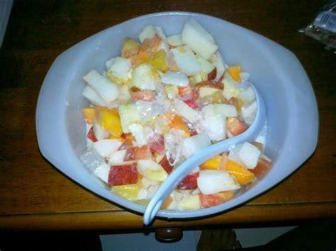 cara buat salad buah buahan senangnye cara buat fruit salad sedap