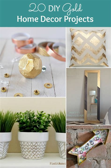 home decorating diy projects 20 diy gold home decor projects