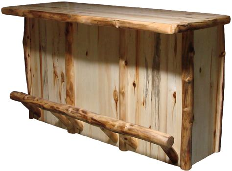 Rustic Outdoor Chandeliers Aspen Half Log Bar Rustic Furniture Mall By Timber Creek