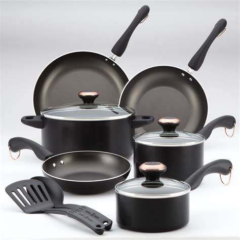 paula deen signature  pc cookware set black