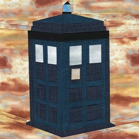 Tardis Quilt Block by The Tardis Paper Piecing Quilt Pattern One Of 20 Free