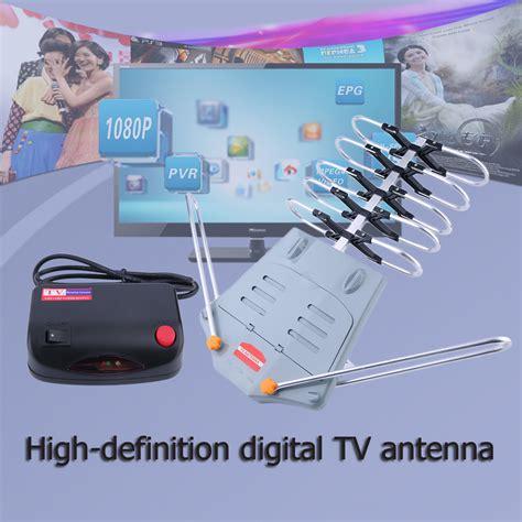 hdtv 1080p outdoor lified antenna 360 rotor digital hd