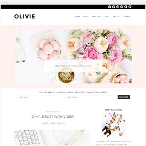 women of web design on earth web site digital designer 63 beautiful feminine wordpress themes of 2017 for
