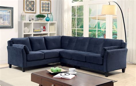 navy sectional navy flannelette sectional caravana furniture