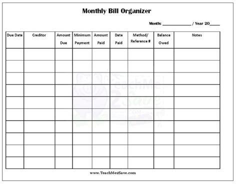 free bill paying organizer template free bill paying organizer template free printable bill