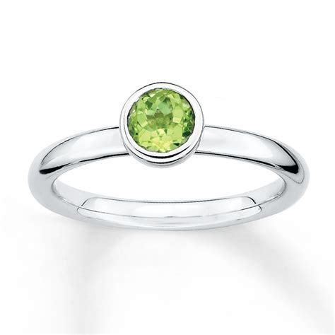 Peridot Rings by Jared Stackable Peridot Ring Sterling Silver