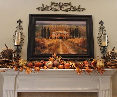 fall mantel decor fireplace mantel decor ideas for decorating for thanksgiving
