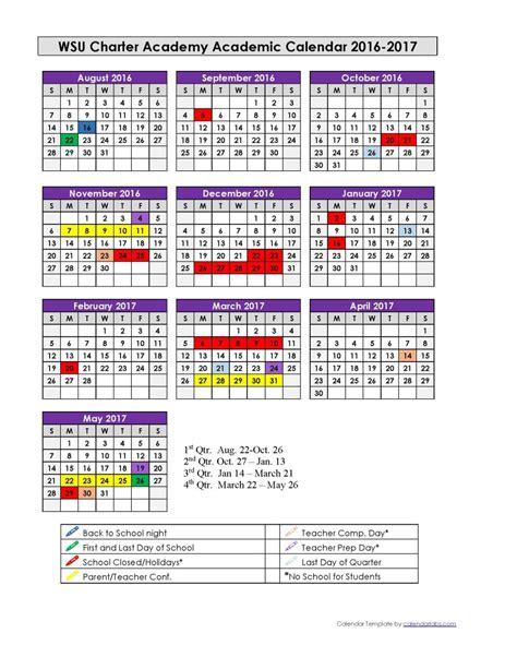 Washington Academic Calendar Wsu 2017 Calendar My