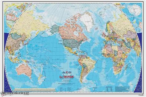 Wall Mural World Map word map french version buy prepasted wallpaper murals