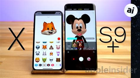 animoji on the iphone x versus ar emoji on the galaxy s9 plus