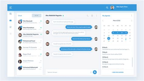 chat app template chat application dashboard ui free psd psd