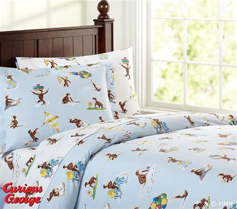 Curious George Toddler Bedding Set Curious George Duvet Cover Pottery Barn