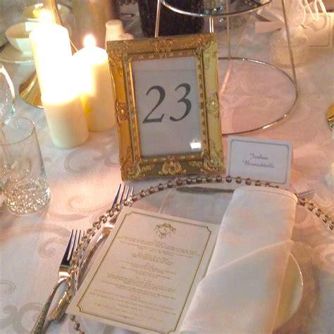 gold table number frames gold frame table number harbourside decorators