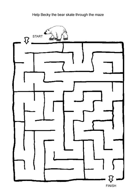 printable maze for preschoolers free online printable kids games ice skating maze maze