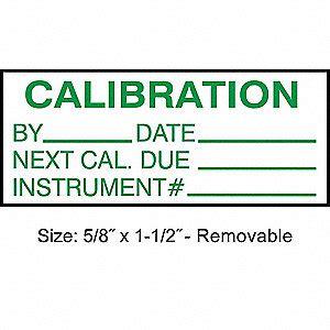 printable calibration stickers stranco inc calibration label eng green white pk350