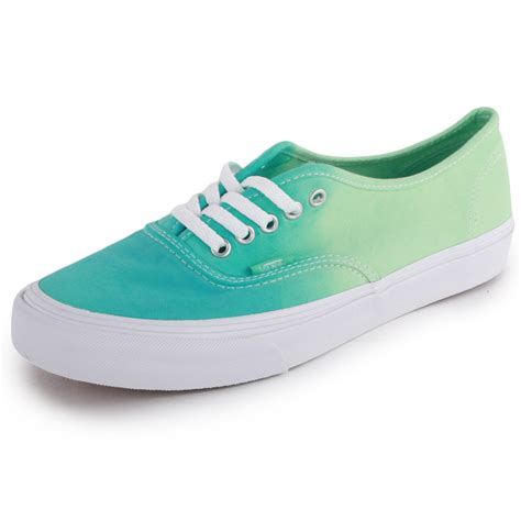 Shoes Green vans ombre authentic slim womens canvas trainers light green new shoes all sizes ebay