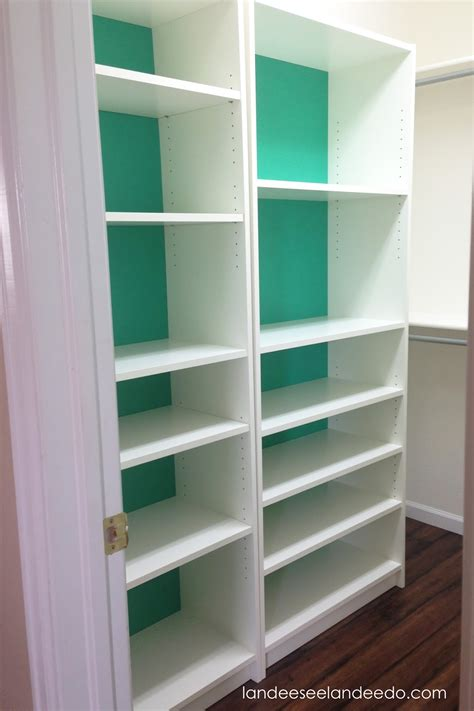 closet makeover ikea billy bookcases landeelu
