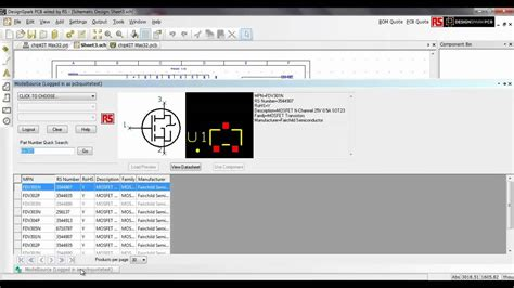 designspark tutorial designspark pcb version 4 library interface youtube
