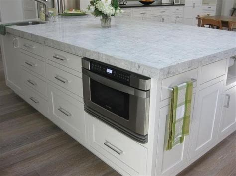 kitchen island with microwave drawer microwave drawer designed4life kitchens pinterest