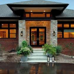 Home Entrance Decor Ideas Ranch Home With Hip Roof And Covered Entrance Design Ideas
