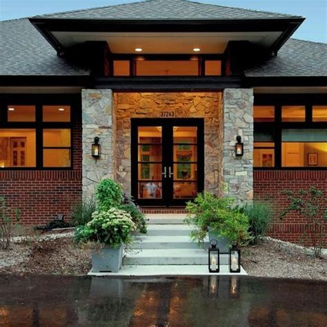 entrance home decor ideas hip roof ranch homes and entrance design on pinterest