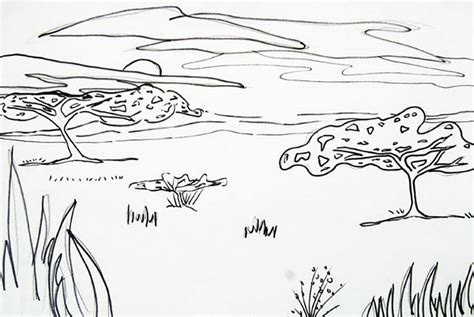 african landscape coloring page savanna coloring pages coloring home