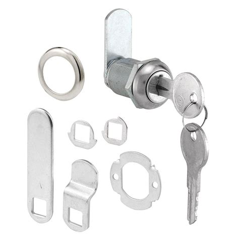 Kitchen Cabinet Locks Prime Line 7 8 In Chrome Drawer And Cabinet Keyed Lock U 9943 The Home Depot