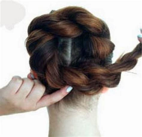 rope twist updo bun hairstyle diy twist double rope bun updo hairstyle the idea king