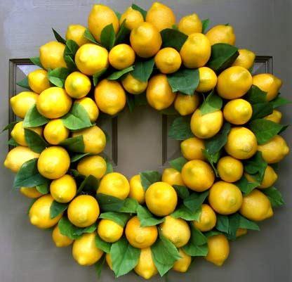 Lemon Decorations by Lemon Wreath Creative Decorations By Ridgewood Designs