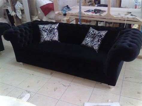 black fabric chesterfield sofa chesterfield sofa black fabric classic interior design