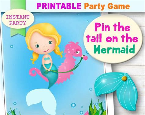 Pin The On The Mermaid Template pin the on the mermaid printable mermaid