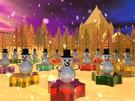 wallpaper christmas birthday snowman party 1024x768 wallpaper