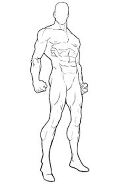 printable heroes bases image result for blank male body template art ref