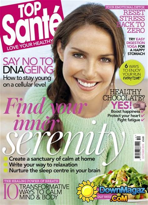Top 10 Womens Magazines by Top Sante Uk October 2015 187 Pdf Magazines