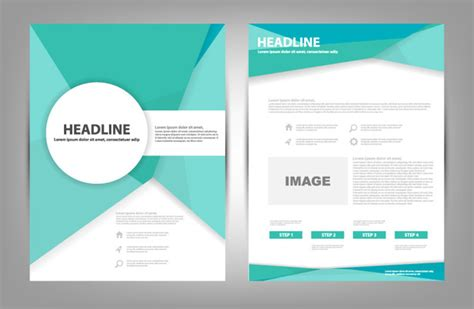 corel draw templates for brochures colorful brochure design in coreldraw free vector download