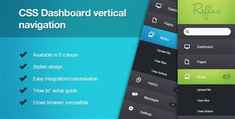 html vertical menu bar template css dashboard vertical navigation by kleverthemes codecanyon