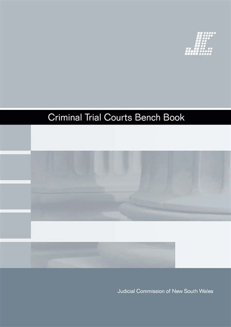 sentencing bench book criminal trial courts bench book judicial commission of