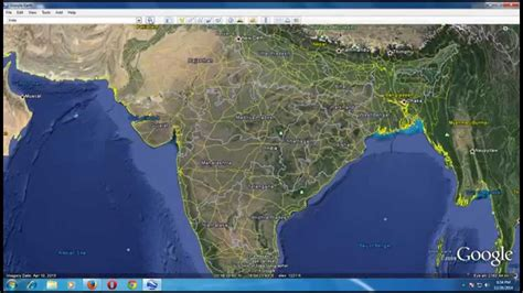 best view map top view of india from earth